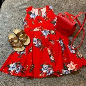 Wishful Park Red Floral Dress